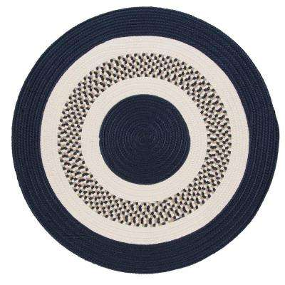 Spiral II Navy 12 ft. x 12 ft. Indoor/Outdoor Round Area Rug
