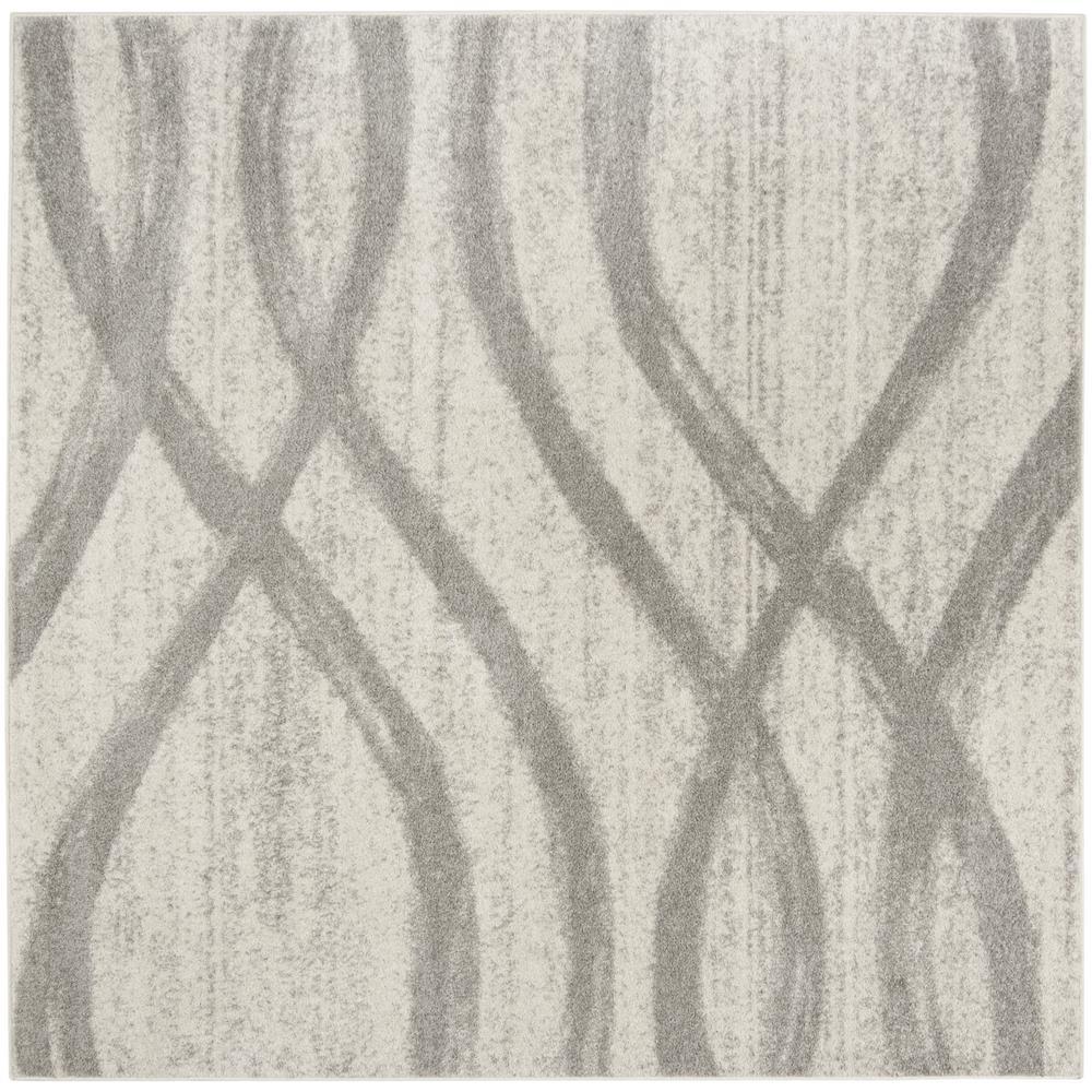 Safavieh Adirondack Cream/Gray 4 ft. x 4 ft. Square Area Rug