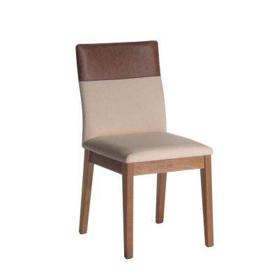 Duke Dark Beige and Brown Dining Chair