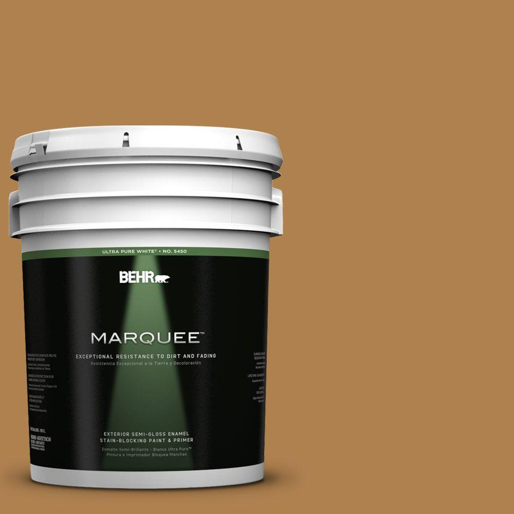 BEHR MARQUEE 5-gal. #UL160-2 Gold Plated Semi-Gloss Enamel Exterior Paint