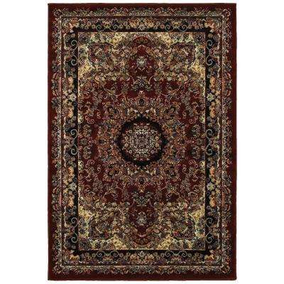 Grace Red/Black 7 ft. 9 in. x 9 ft. 5 in. Plush Indoor Area Rug