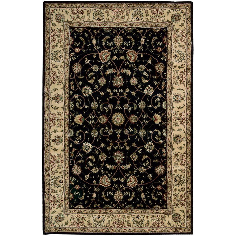 Nourison 2000 Navy 5 Ft 6 In X 8 Area Rug 606952 The Home Depot