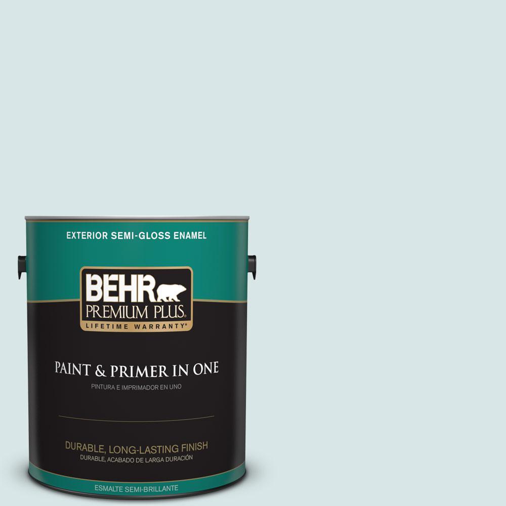 1-gal. #500E-2 Aqua Breeze Semi-Gloss Enamel Exterior Paint