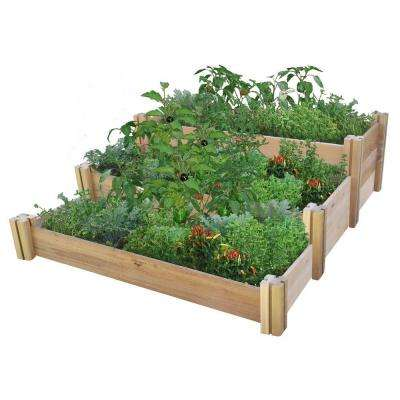 48 in. x 50 in. x 19 in. Multi-Level Rustic Raised Garden Bed