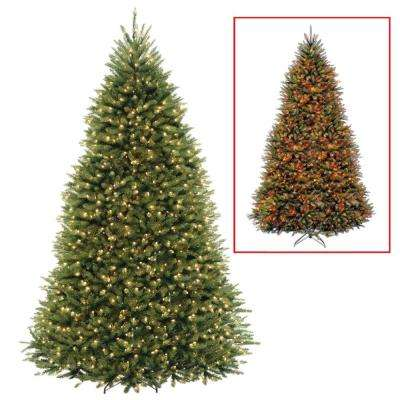PowerConnect Dunhill Fir Artificial Christmas Tree with Dual Color LED  Lights - Undecorated - Pre-Lit Christmas Trees - Artificial Christmas Trees