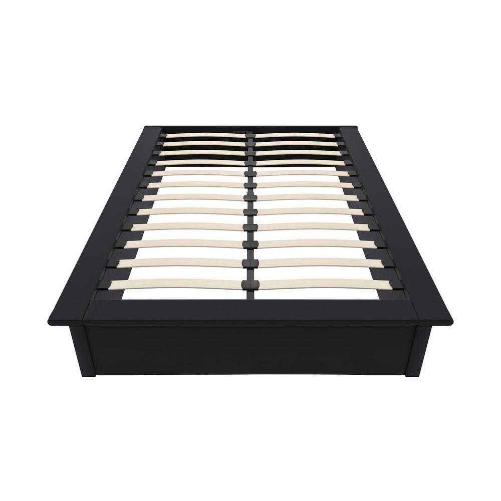 Kristian Black Full Size Upholstered Platform Bed