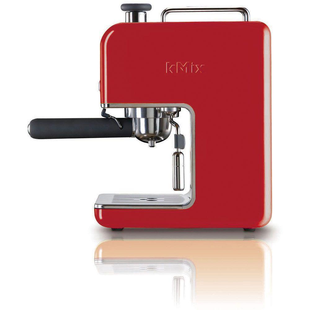 DeLonghi kMix 15 Bar Pump Espresso Maker in Red