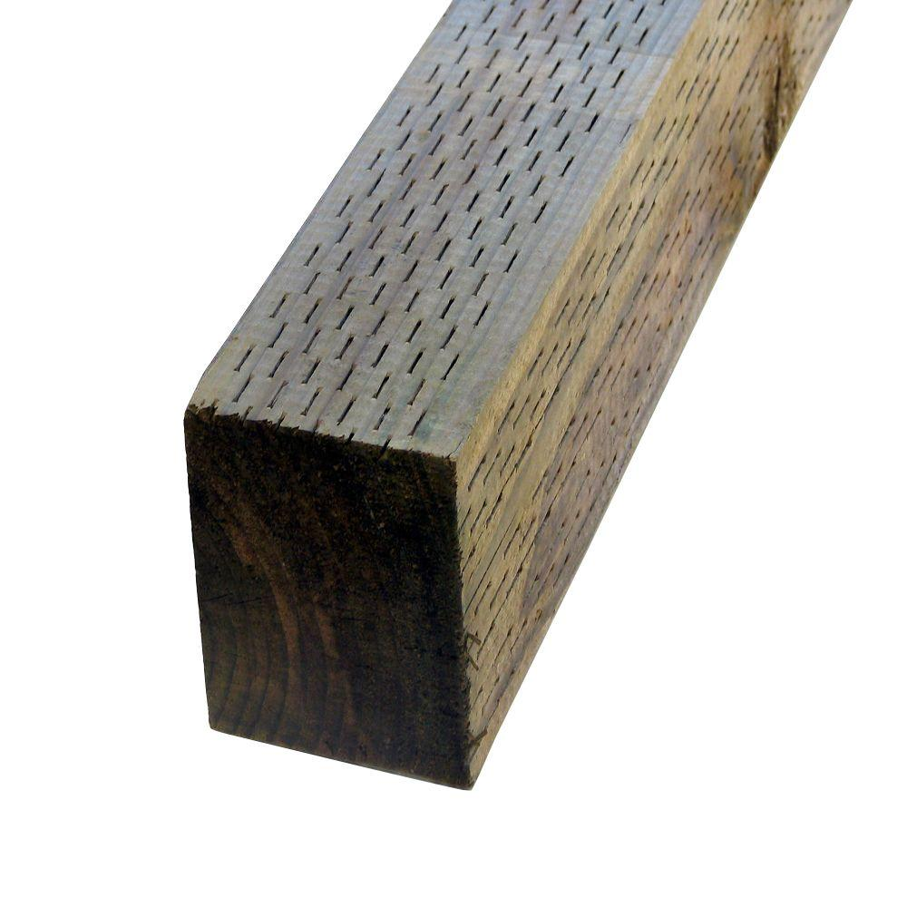 4 in. x 4 in. x 8 ft. Pressure-Treated Timber