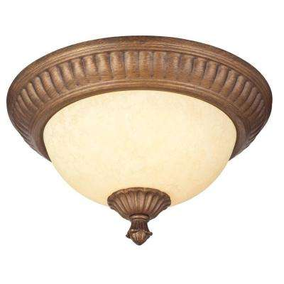 Regal Springs 2-Light Ebony Gold Ceiling Fixture