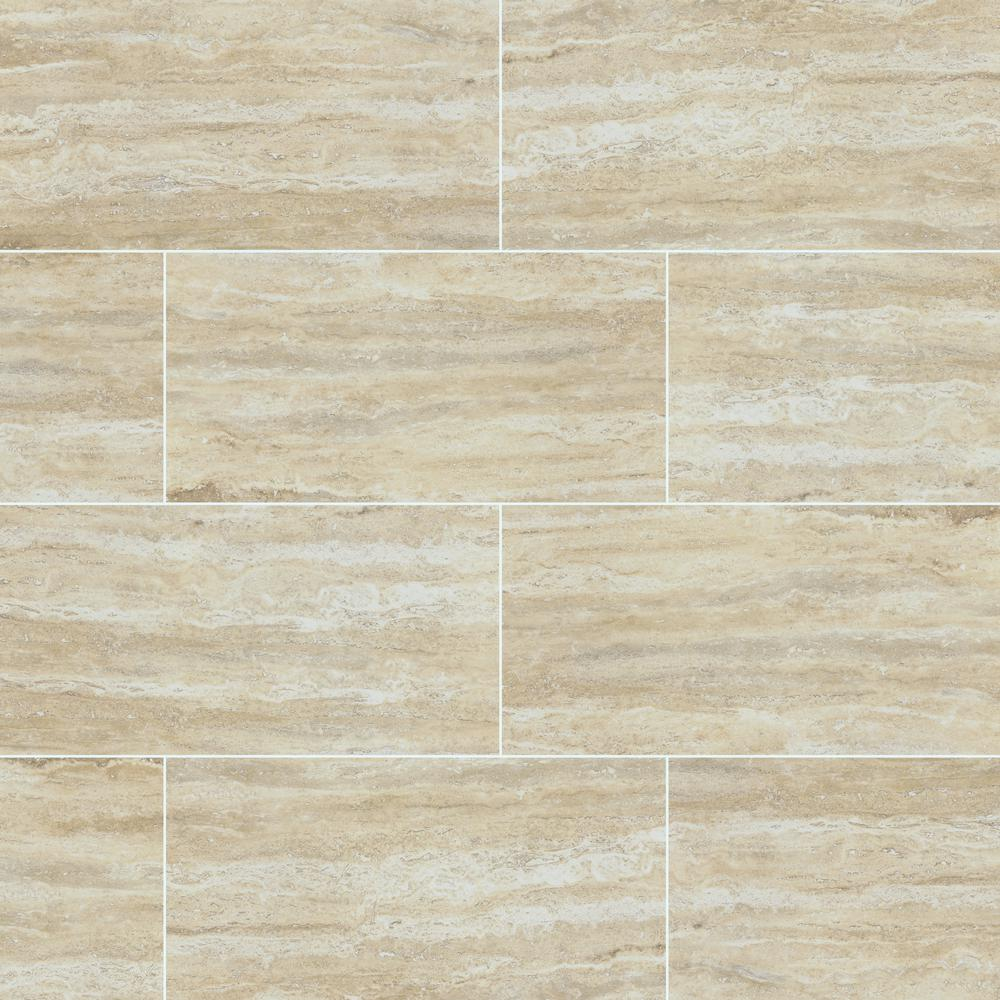 Msi Pietra Trevi Sand 12 In X 24 In Polished Porcelain