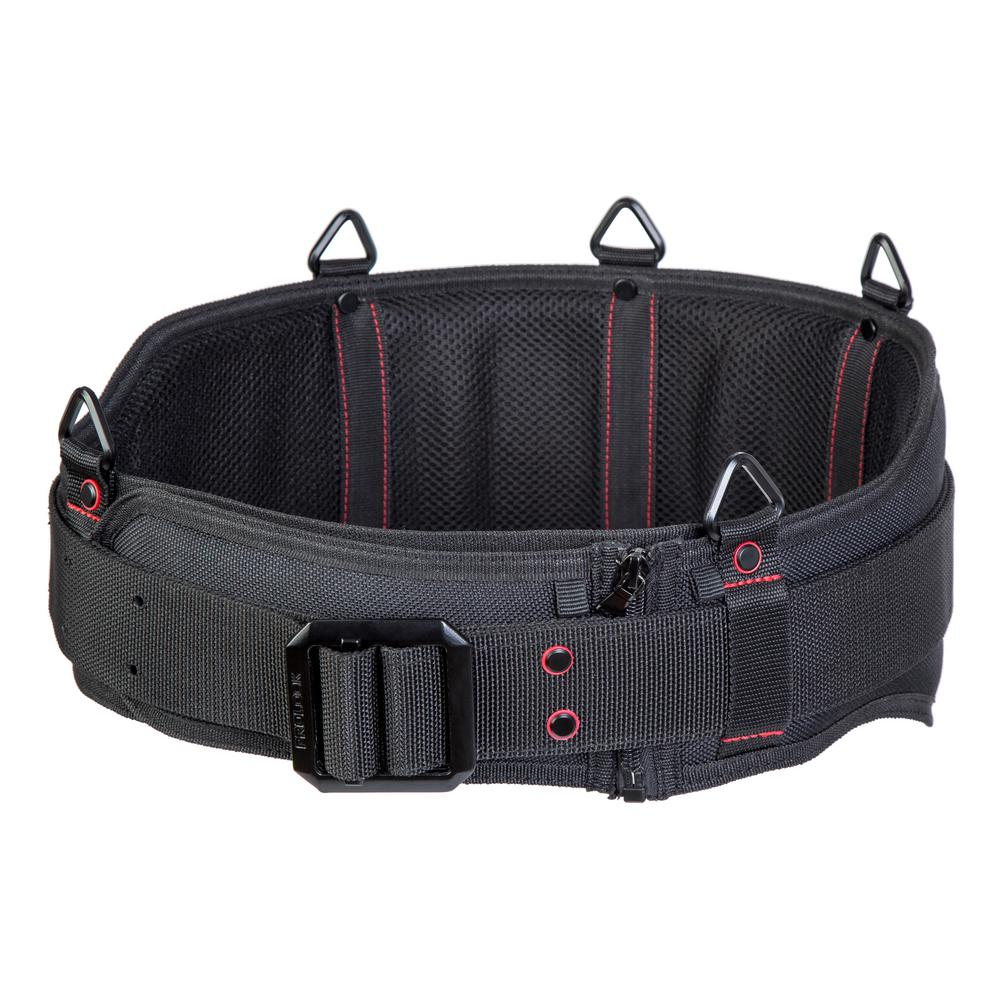 PROLOCK Unisex 60 Black Extra Padded Belt with Steel Buckle