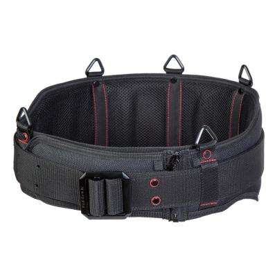 Unisex 60 Black Extra Padded Belt with Steel Buckle
