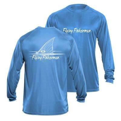 Redfish Large Long Sleeve Performance Tee in Blue