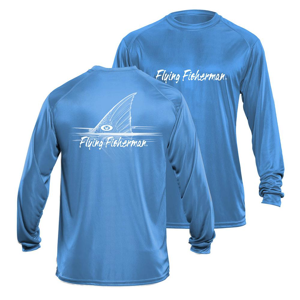 Redfish XX-Large Long Sleeve Performance Tee in Blue