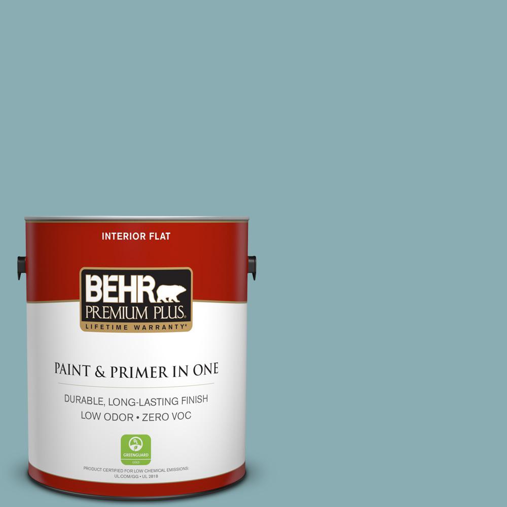 BEHR Premium Plus 1-gal. #510F-4 Bon Voyage Zero VOC Flat Interior Paint
