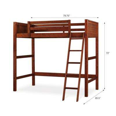 Lynn Walnut Twin Loft Bed