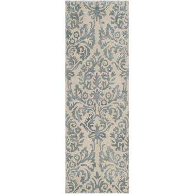 Bella Ivory/Silver 2 ft. 3 in. x 7 ft. Runner