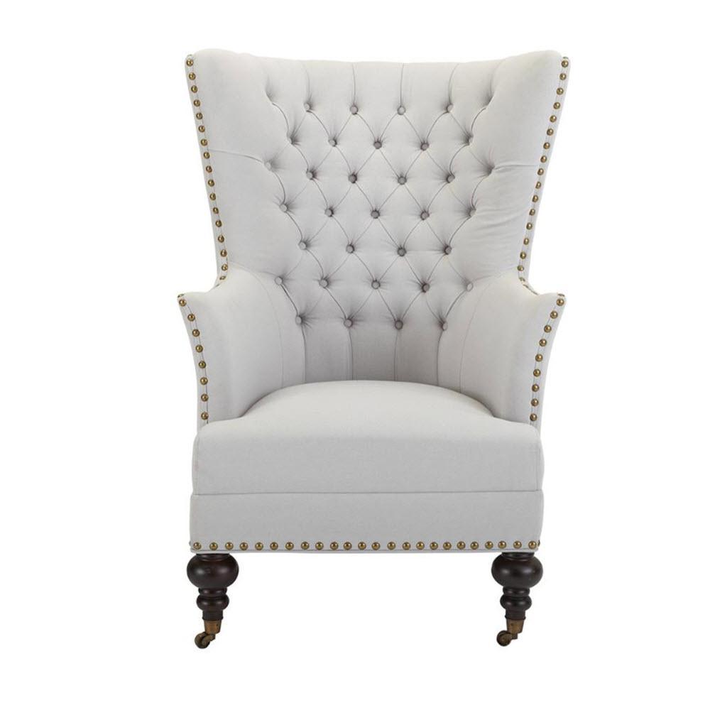 Ashton Denali Dark Cerulean Velvet Arm Chair 1794500340