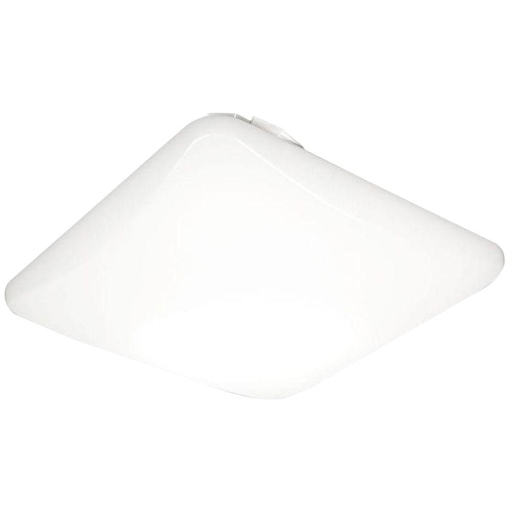 Lithonia Lighting 11 in. Square Low-Profile White LED Flushmount