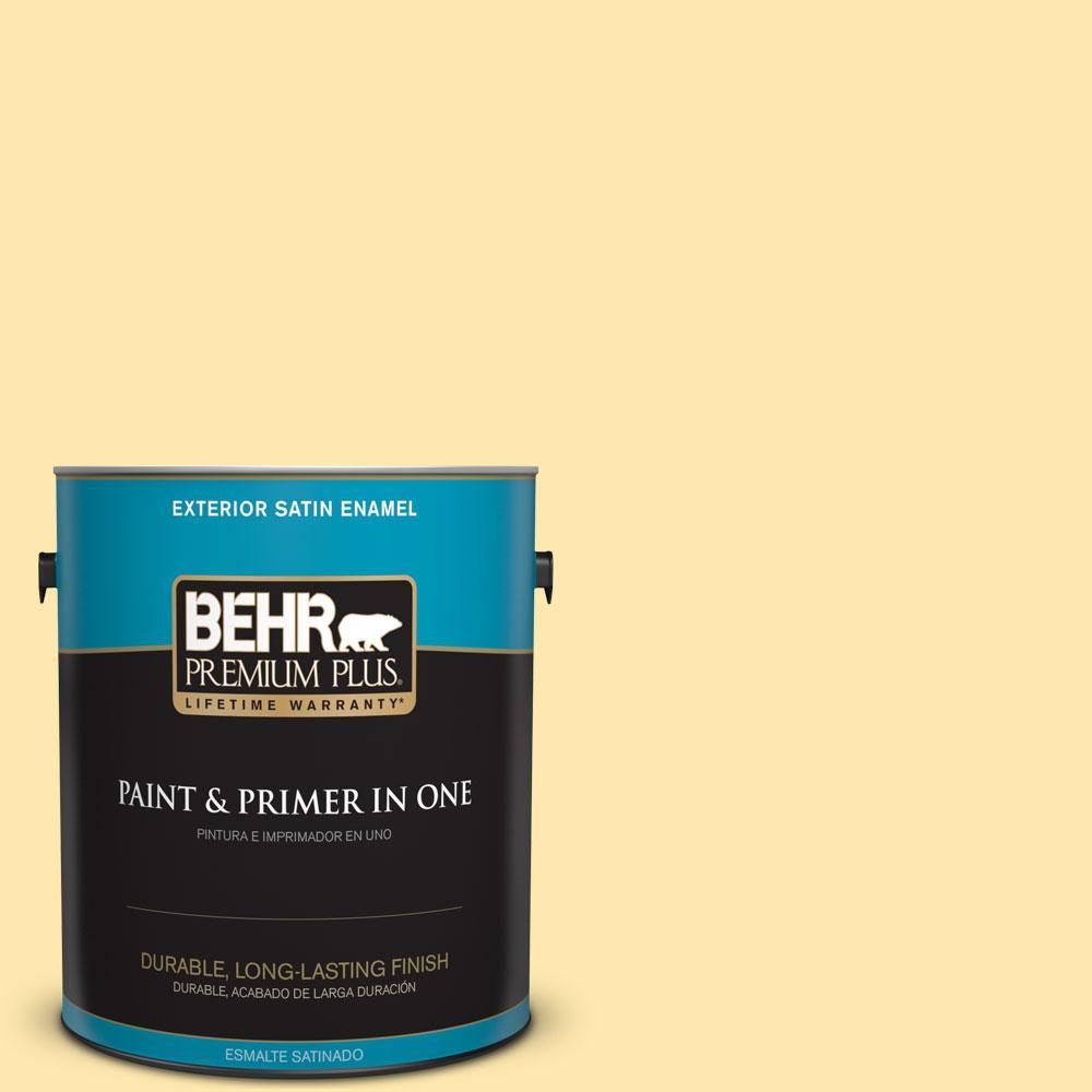 1-gal. #P290-2 Sweet as Honey Satin Enamel Exterior Paint