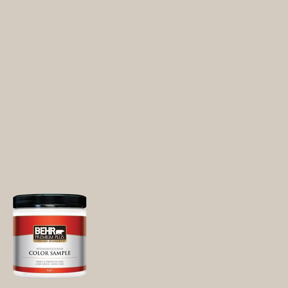 8 oz. #N220-2 Ashen Tan Flat Zero VOC Interior/Exterior Paint and