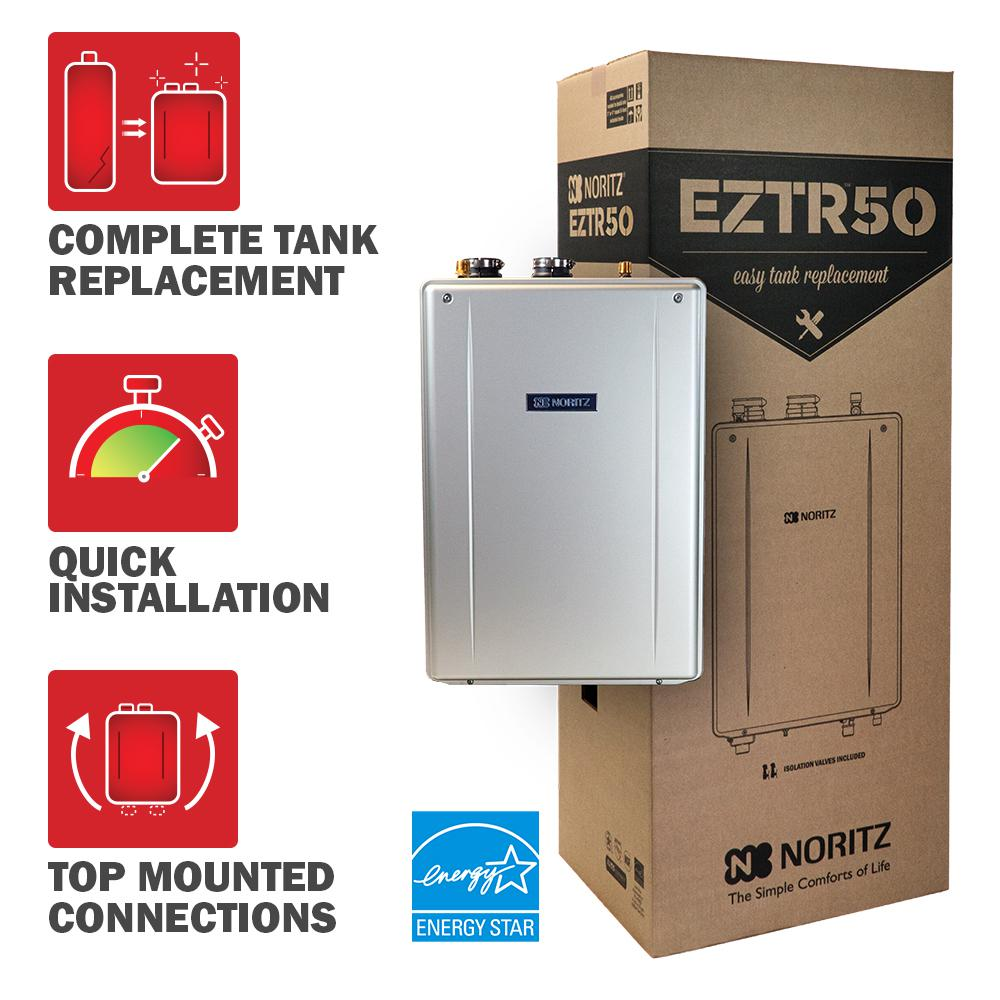 50 Gal. Tank Replacement-Liquid Natural Gas Hi-Efficiency Indoor Tankless Water