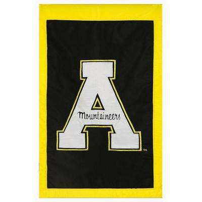 2-1/3 ft. x 3-2/3 ft. Appalachian State University Applique House Flag