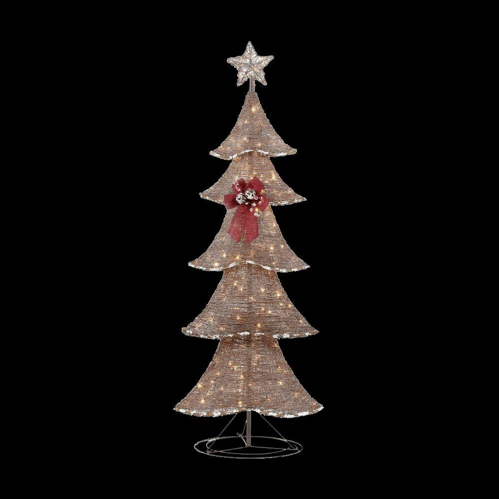 Home Accents Holiday 6 Ft. Pre-Lit Brown Rustic Tree-TY090