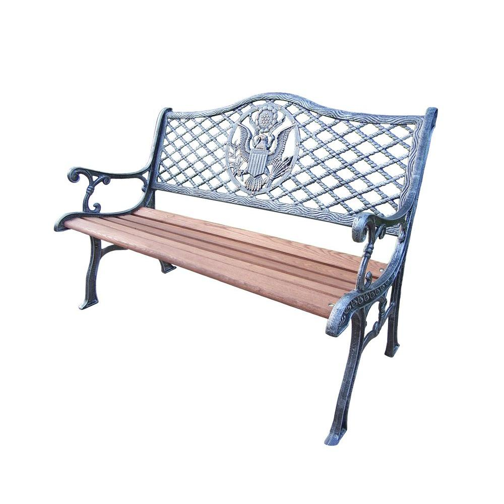Oakland American Eagle Patio Bench