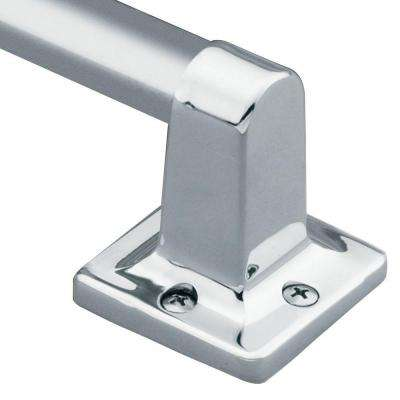Home Care 16 in. x 7/8 in. Exposed Screw Grab Bar in Chrome