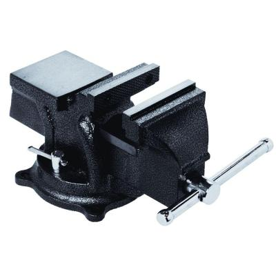 4 in. Heavy-Duty Bench Vise with Swivel Base