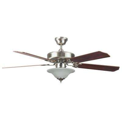 Stainless steel ceiling fans lighting the home depot heritage square series 52 in indoor stainless steel ceiling fan aloadofball Choice Image
