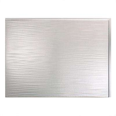 24 in. x 18 in. Ripple PVC Decorative Backsplash Panel in Brushed Aluminum