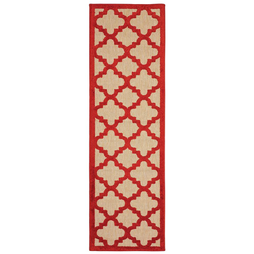 Marina Red 2 Ft X 8 Outdoor Runner Rug