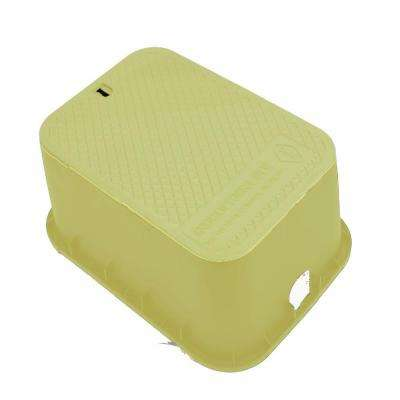 15 in. x 21 in. x 12 in. Deep Rectangular Valve Box in Tan Body Tan Lid
