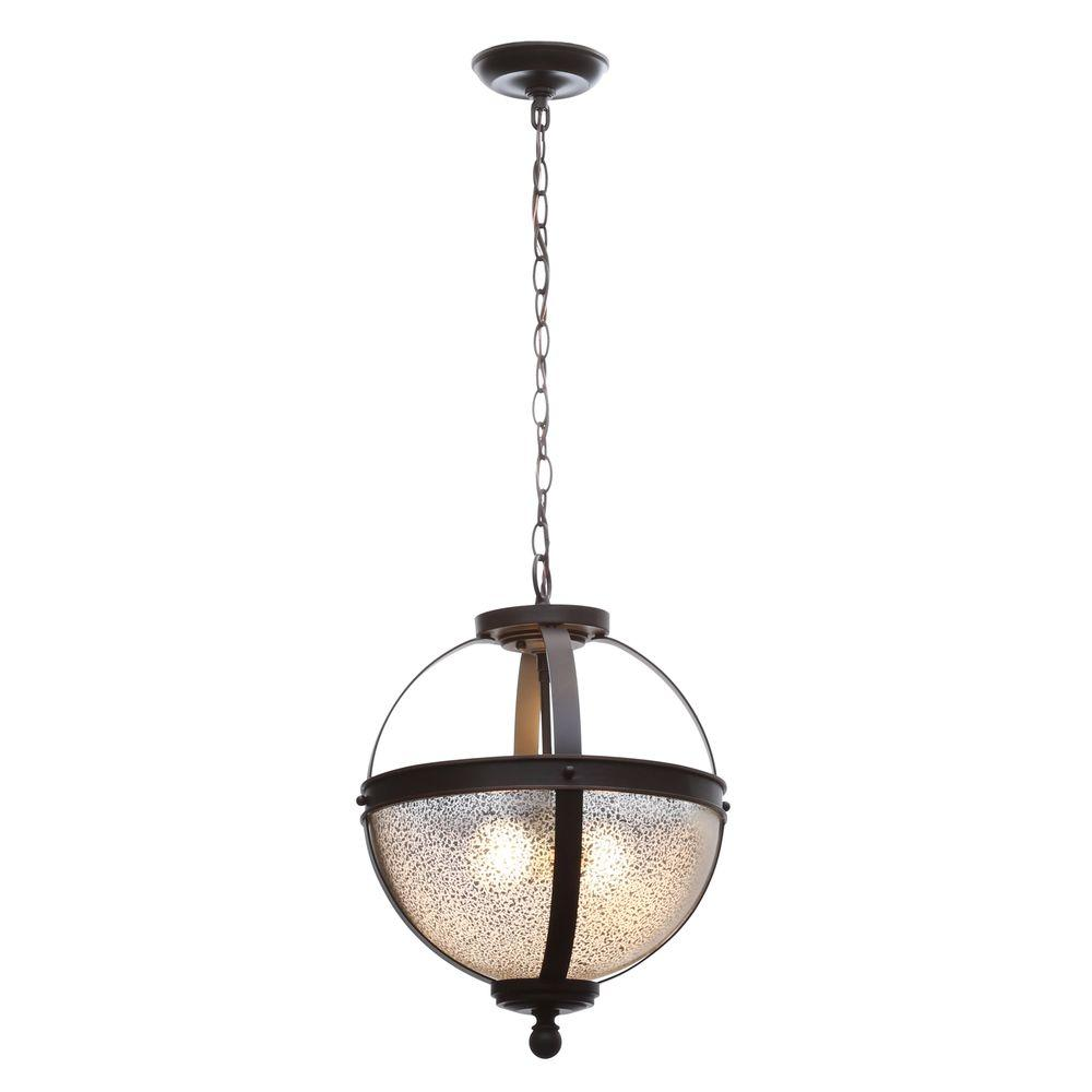 Sea Gull Lighting Sfera 13 5 In W 2 Light Autumn Bronze Semi