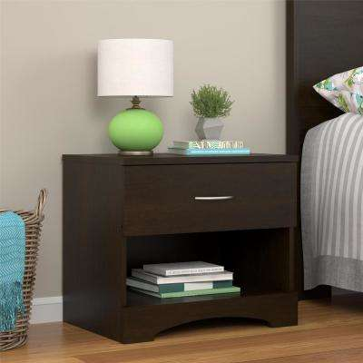 Crescent Point Espresso Nightstand