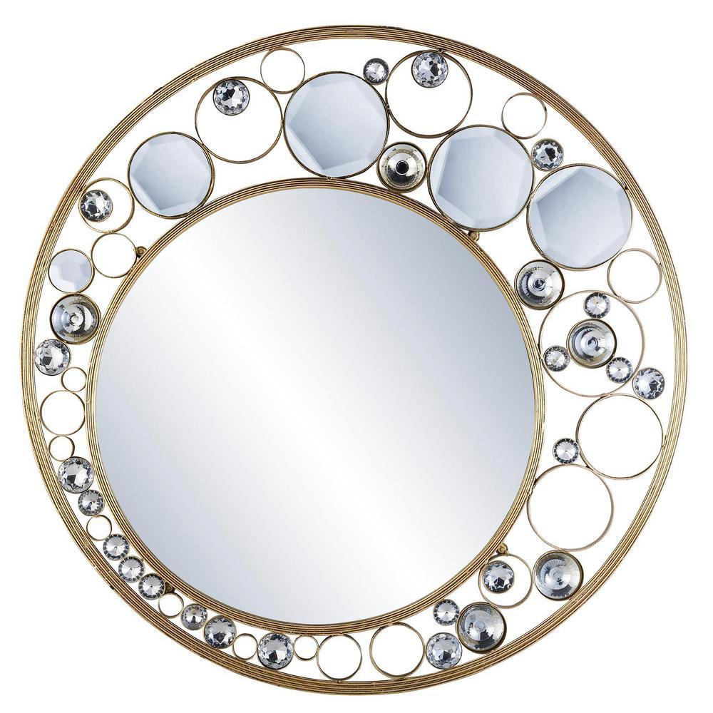 Glimmer Of Gold Decorative Mirror