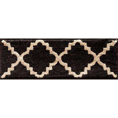 Kurdamir II Taza Onyx/Bone 9 in. x 33 in. Stair Tread Cover
