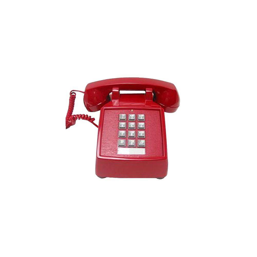 Cortelco Desk Value Line Corded Telephone - Red