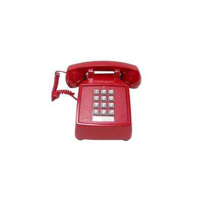 Desk Value Line Corded Telephone - Red