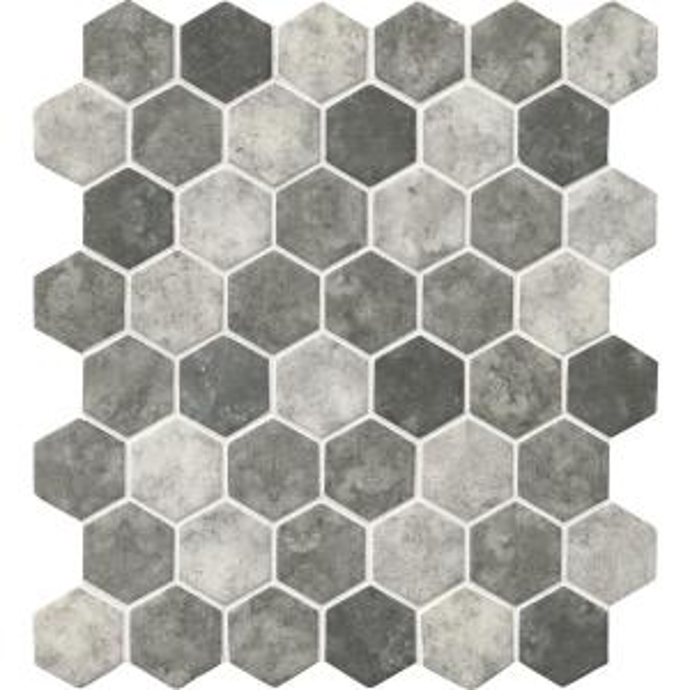 Msi Urban Tapestry Hexagon 12 In X 12 In X 6 Mm Glass