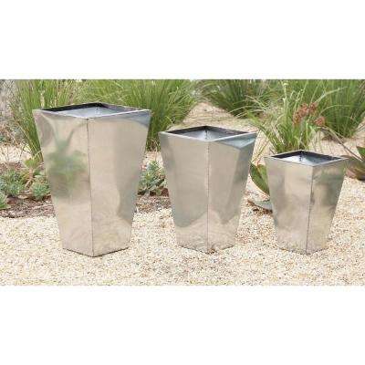 26 in. Trapezoidal Tin Planter