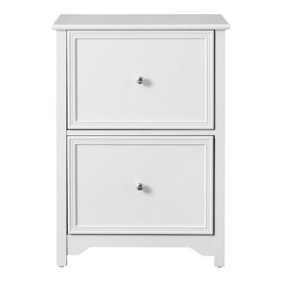 Bradstone 2 Drawer White File Cabinet