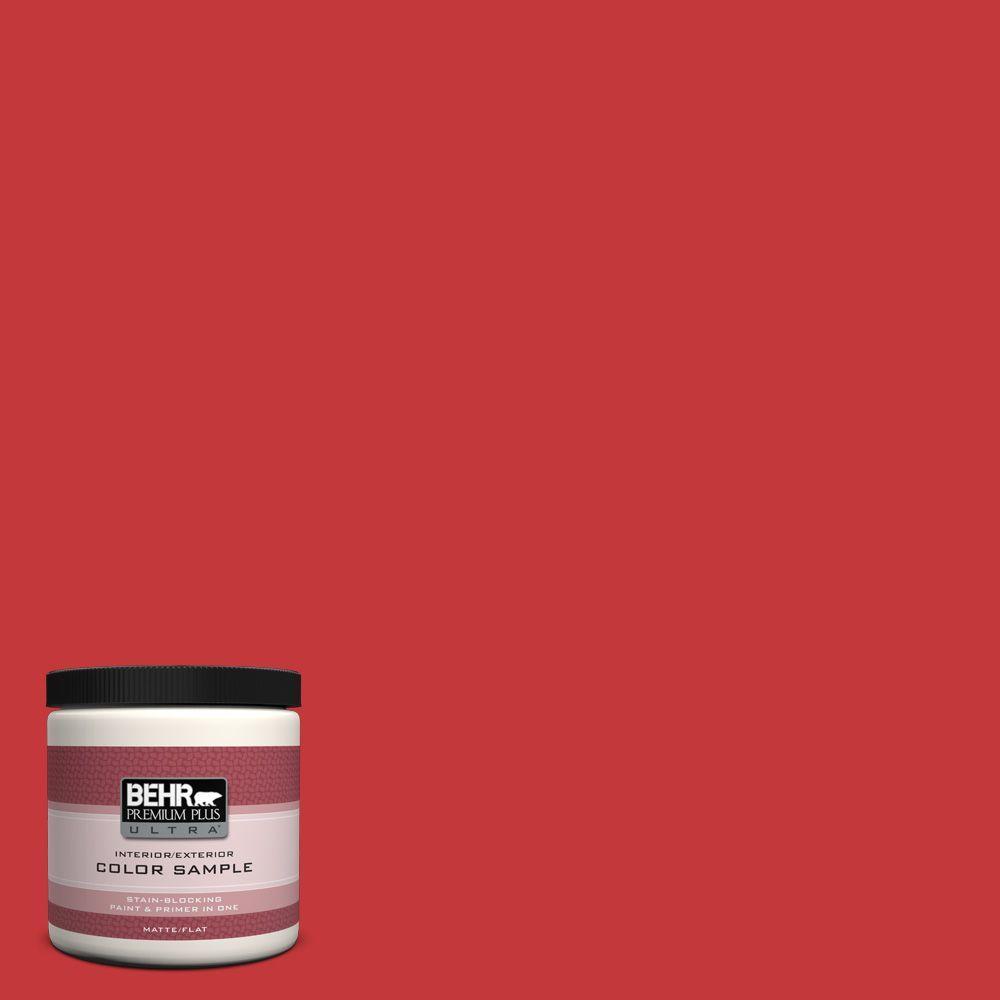 BEHR Premium Plus Ultra 8 oz. #150B-7 Poinsettia Interior/Exterior Paint Sample