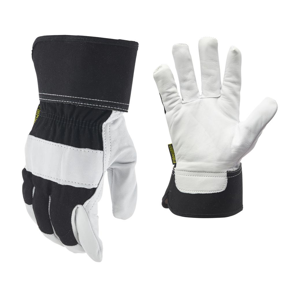 Firm Grip Goatskin Leather Gloves with Safety Cuff