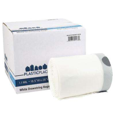 8-9 Gal. White Drawstring Trash Bags (Case of 200)