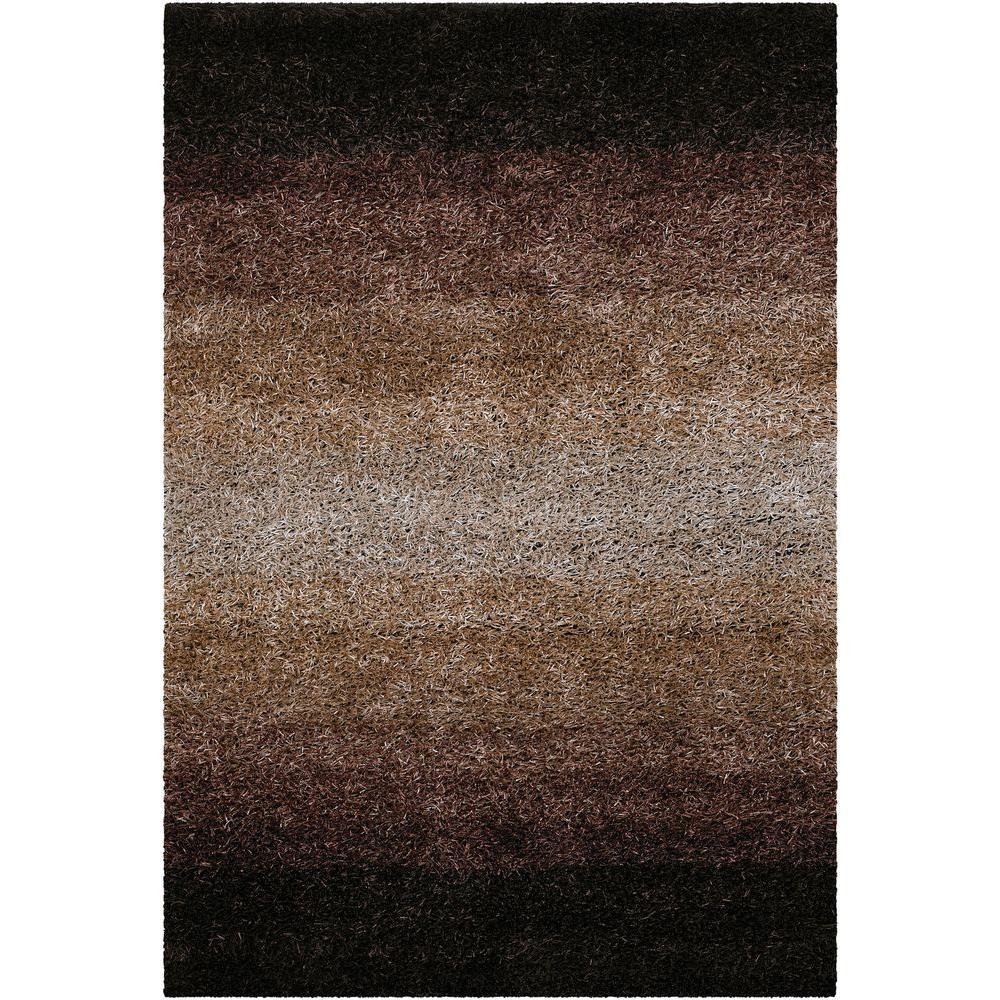 Chandra Sani Dark Brown/Tan 7 ft. 9 in. x 10 ft. 6 in. Indoor Area Rug