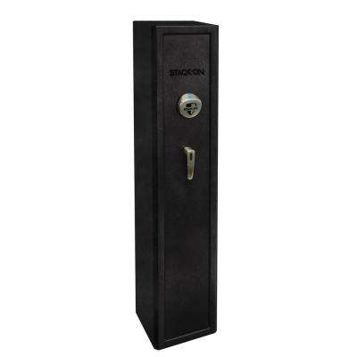 Home Defense Stand-Up Safe with Biometric Lock - Black Granite
