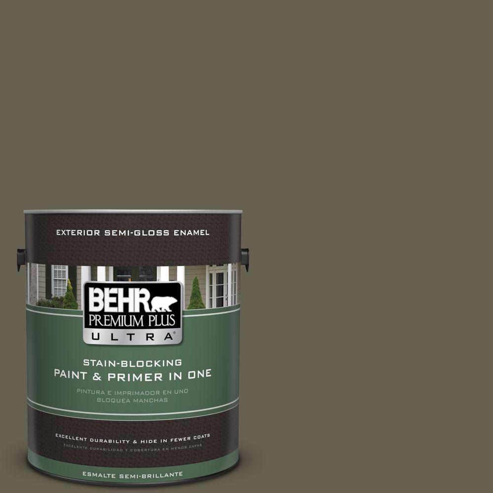 BEHR Premium Plus Ultra 1-gal. #PPU8-25 Ivy Topiary Semi-Gloss Enamel Exterior Paint